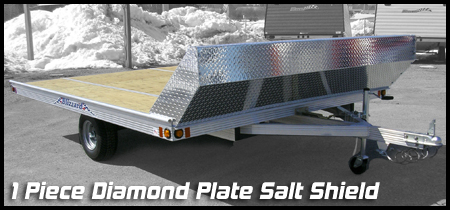 Flat Trailer with 1-piece Salt Shield