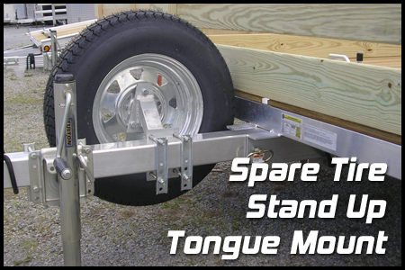 Spare Tire Stand Up Mount